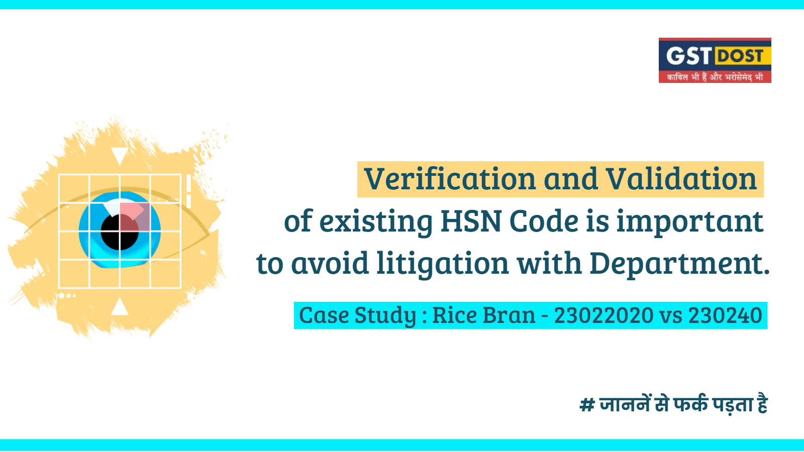 Are you Verifying your Old HSN Codes? Read on to find Why it is Important! [Case Study - Rice Bran - 23022020 vs 230240]
